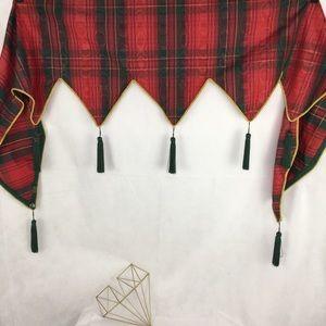 Tartan Plaid with Tassels Mantel Skirt